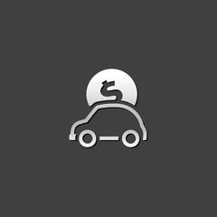 Metallic Icon - Car piggybank