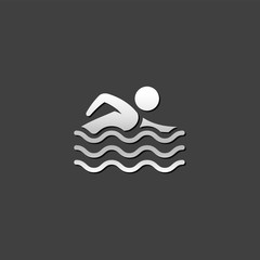 Metallic Icon - Man swimming