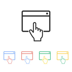 Browser - vector icon.