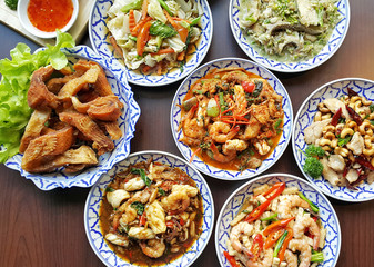 Spicy Thai foods