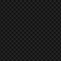 Vector black square seamless pattern. Modern stylish texture. Repeating geometric tiles