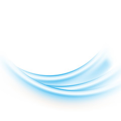 Abstract vector background of Blue waves on white background Vector illustration