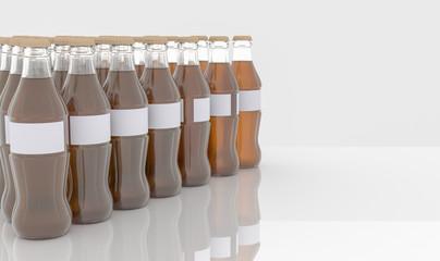 Glass bottle on white background, 3D Rendering
