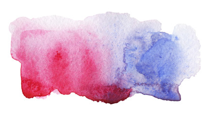 Isolated watercolor stain. Creative watercolor art for decoration