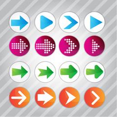 Arrow icon pattern set Vector illustration