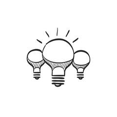 Sketch icon - Spiral Lightbulb