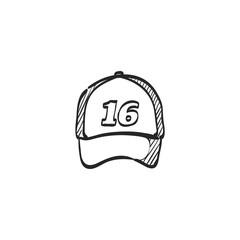 Sketch icon - Sport hat