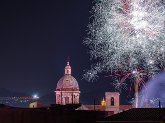 fireworks in Palermo