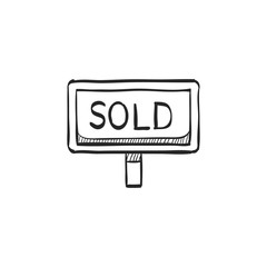 Sketch icon - Sold out sign