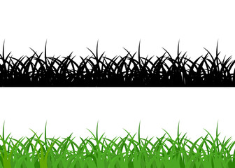 Grass borders, green and black