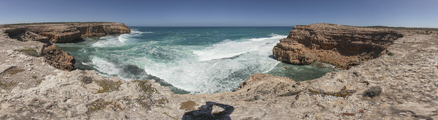 Pano Scenery/A Panorama shot of the West coast of Eyre Peninsula South Australia, Australia,