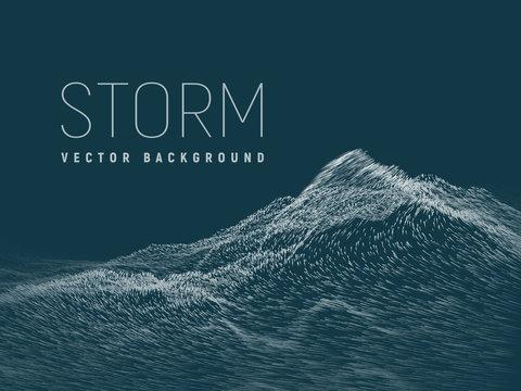 Storm .Vector background