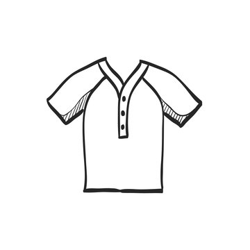 Sketch icon - Baseball jersey