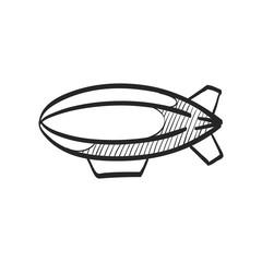 Sketch icon - Airship Balloon