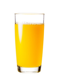 Foto op Plexiglas Sap Process of pouring orange juice into a glass