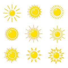 Flat icons sun.