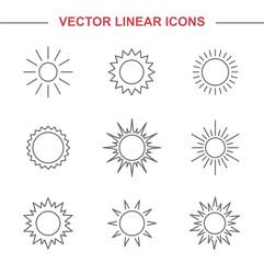 Linear icons sun.