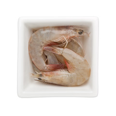 Raw grey prawn