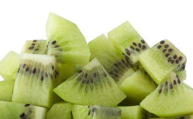 Diced kiwifruit