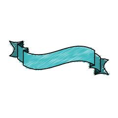 color pencil ribbon decorative tape design vector illustration