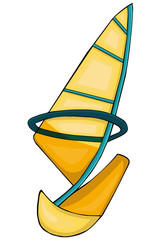 Sailing.  Cartoon style. Clip art for children.