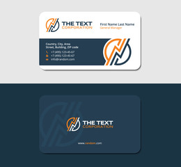 business card design template for an wireman