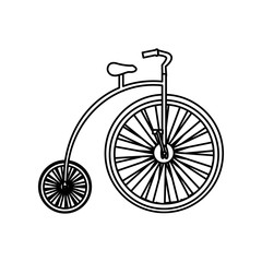 monochrome silhouette with penny farthing vector illustration