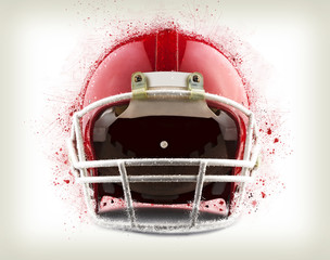 Illustration of a Red American football helmet