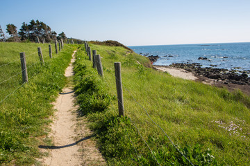 Sentier Littoral Protection des Dunes - Morbihan, Bretagne