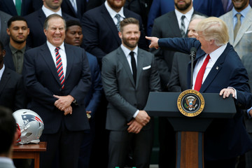 U.S. President Trump honors Super Bowl champion New England Patriots at the White House in Washington
