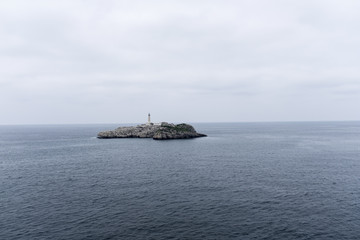 The lighthouse island, Santander, Spain