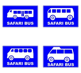 Safari Bus. Tour. Safari. Africa. Trip. Tourism. icon. sign. savanna