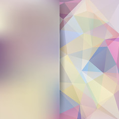 Abstract pastel polygonal vector background. Colorful geometric vector illustration. Creative design template. Abstract vector background for use in design