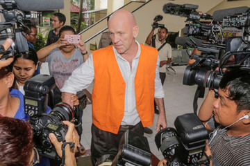 David Matthew Fox is seen after being sentenced to seven months in prison for possession of hashish, at a Denpasar court in Bali