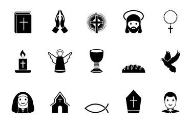 Christentum Iconset - Schwarz