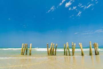 The beach in Hoi An Vietnam