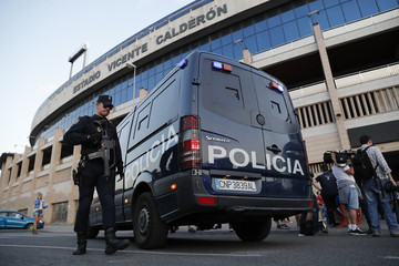 Police outside the stadium
