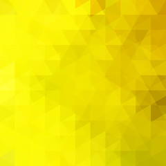 Geometric pattern, triangles vector background in yellow tones. Illustration pattern