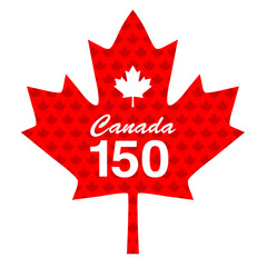 Canadian 150 maple leaf graphic