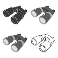 Binoculars icon of vector illustration for web and mobile