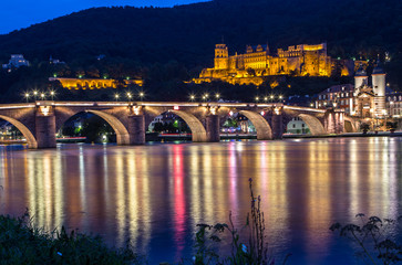 View to castle, Heidelberg, Germany