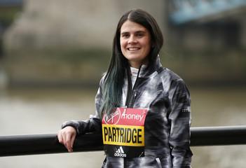 Great Britain's Susan Partridge poses for a photo ahead of the 2017 Virgin Money London Marathon