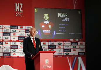 British & Irish Lions tour manager John Spencer as Jared Payne is announced in the squad