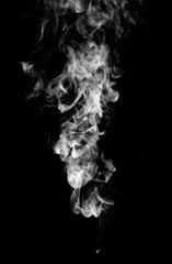 Wall Murals Smoke White fantasy smoke on black background