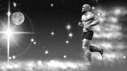Space runner. 3D rendering. Art. 4K.