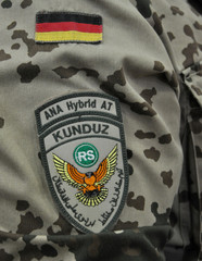 Patch of a German armed forces Bundeswehr military advisor in Kunduz