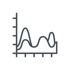 Chart Diagram Line Icon