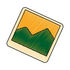 Picture of landscape flat vector illustration design