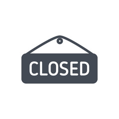 Closed Sign ecommerce silhouette icon