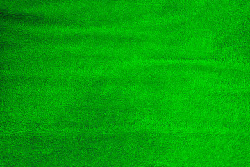 Green towel smooth soft emotion cotton texture for background.